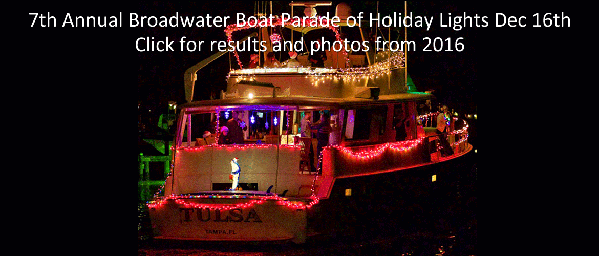 7th Annual Broadwater Boat Parade of Holiday Lights December 16 2017